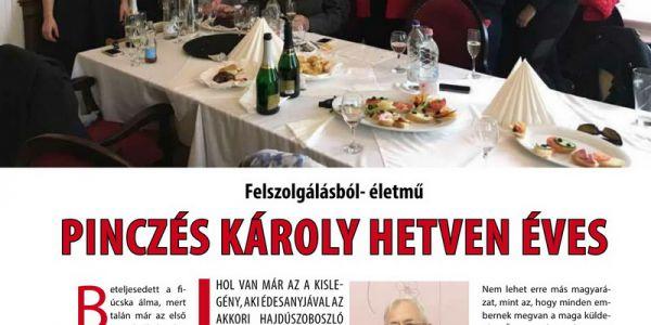 Pinczés Károly hetven éves