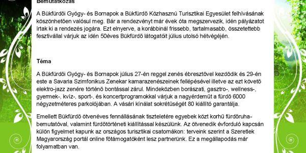 Bükkfürdői Gyógy - és Bornapok 2012.07.27-29.