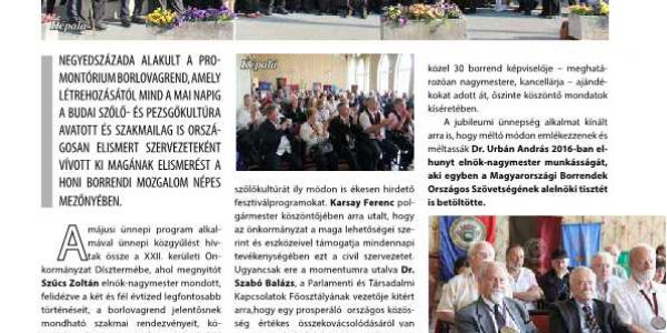 A Promontorium borlovagrend 25 éves jubileumát ünnepelte