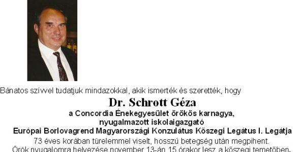 Dr. Schrott Géza